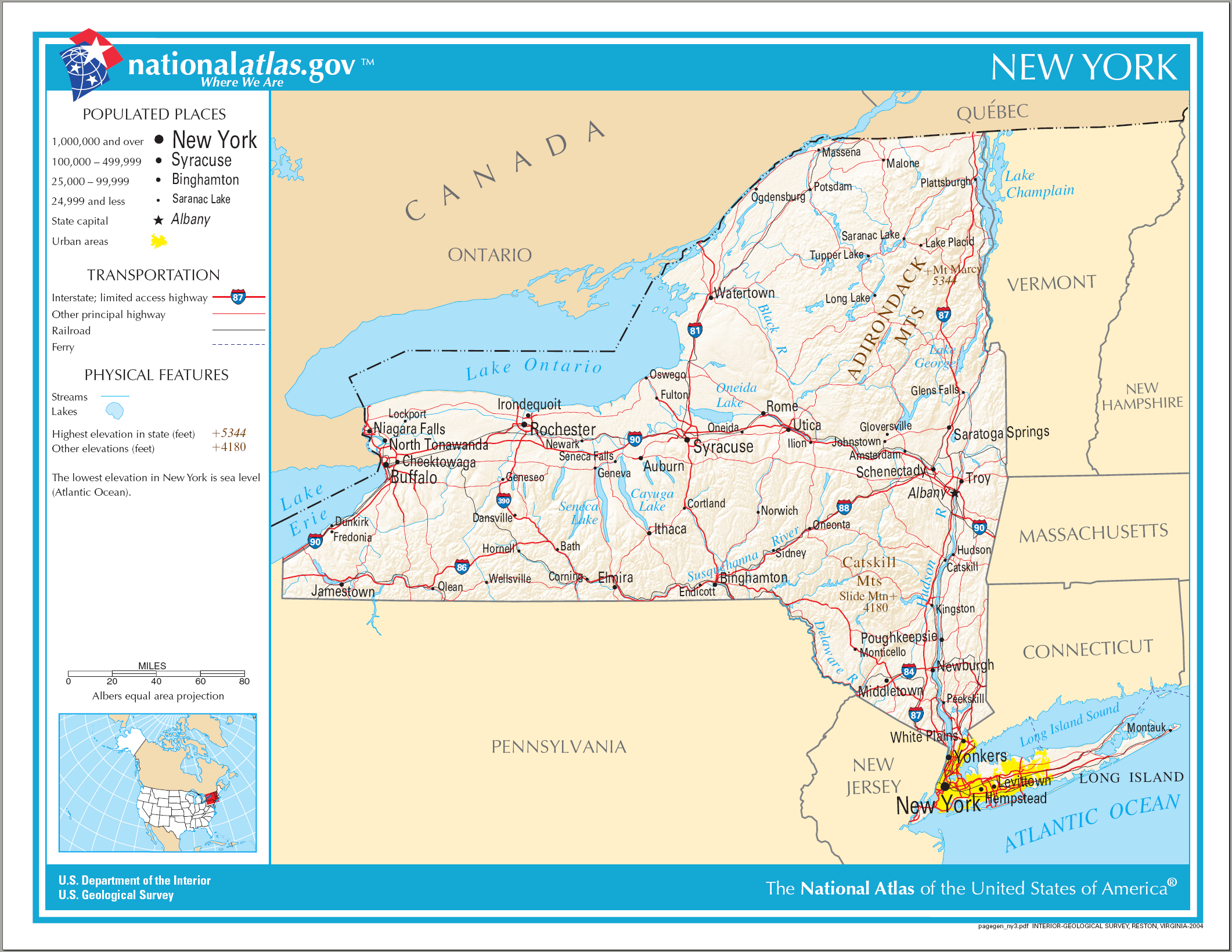 Map Of New York Na Png 2122 1640 Map Of New York Geography For Kids United States Geography
