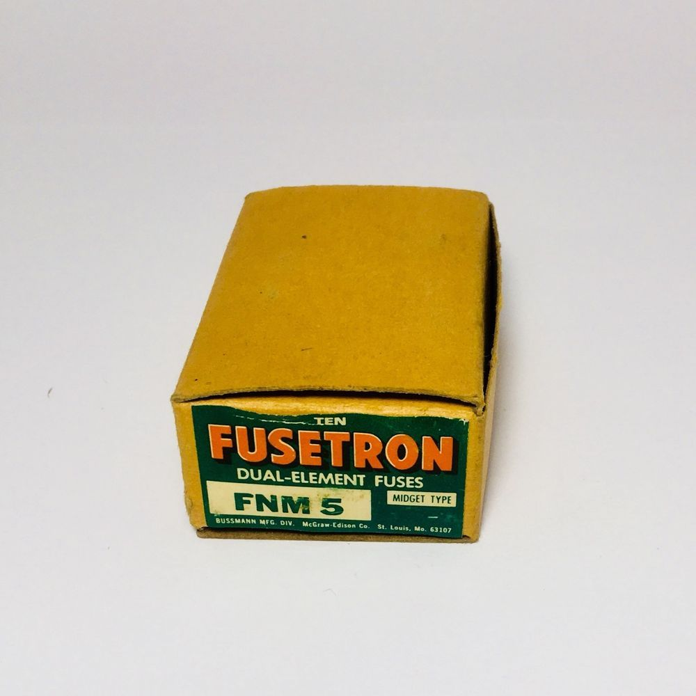 Fnm 5 Fusetron Bussmann Fuses Box Of 10 Dual Element 250 Volt Amp Fuse Midget New