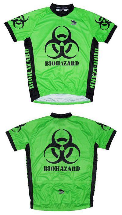 Jerseys 56183  Biohazard Intense Green Cycling Jersey Men S Short Sleeve By  Suarez -  f8345bd9b