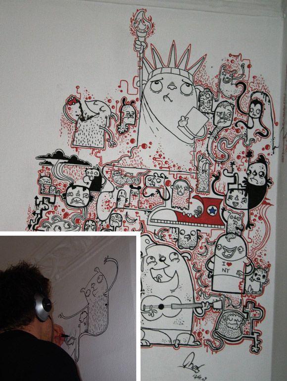 thomas weinreich wall mural 2b | new crazy art | Pinterest ...