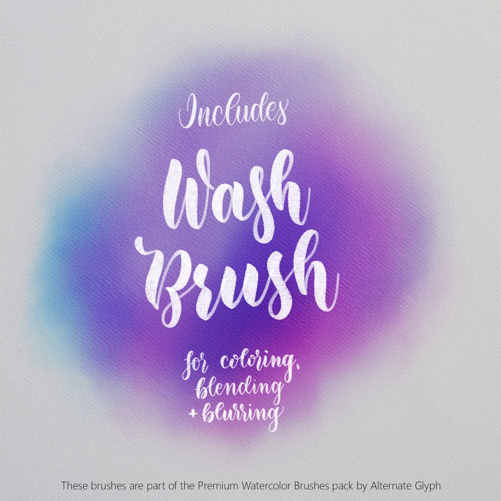 Watercolor Calligraphy Brushes For Procreate Watercolor Effects