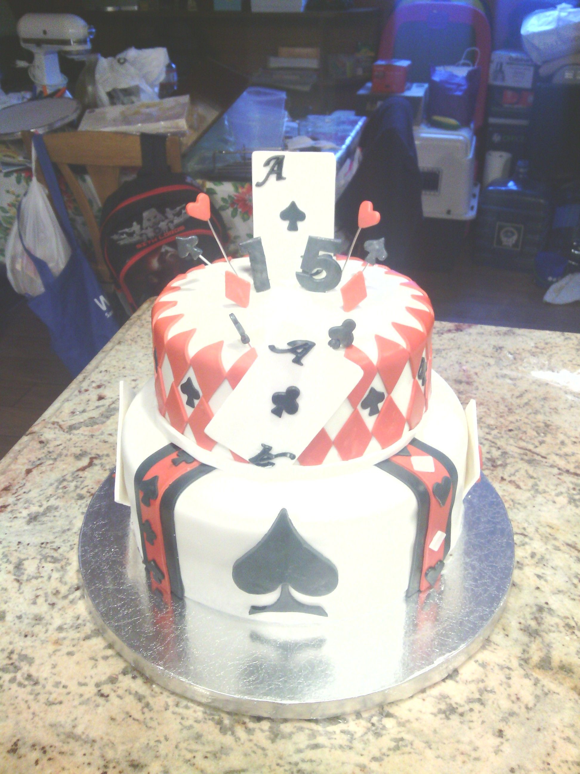 Cake i made for a 15 year old boy named aceis please