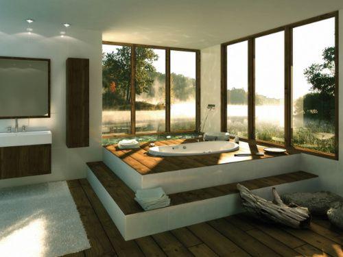Jacuzzi house pinterest badkamer natuurlijke badkamer en bad