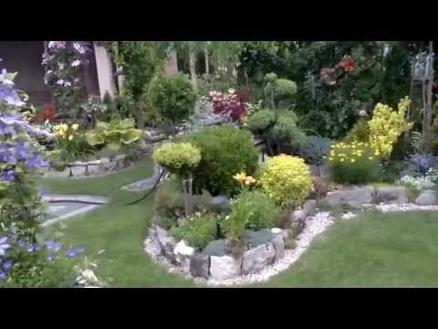 Piękny ogród przełom czerwca lipca - beautiful garden - YouTube