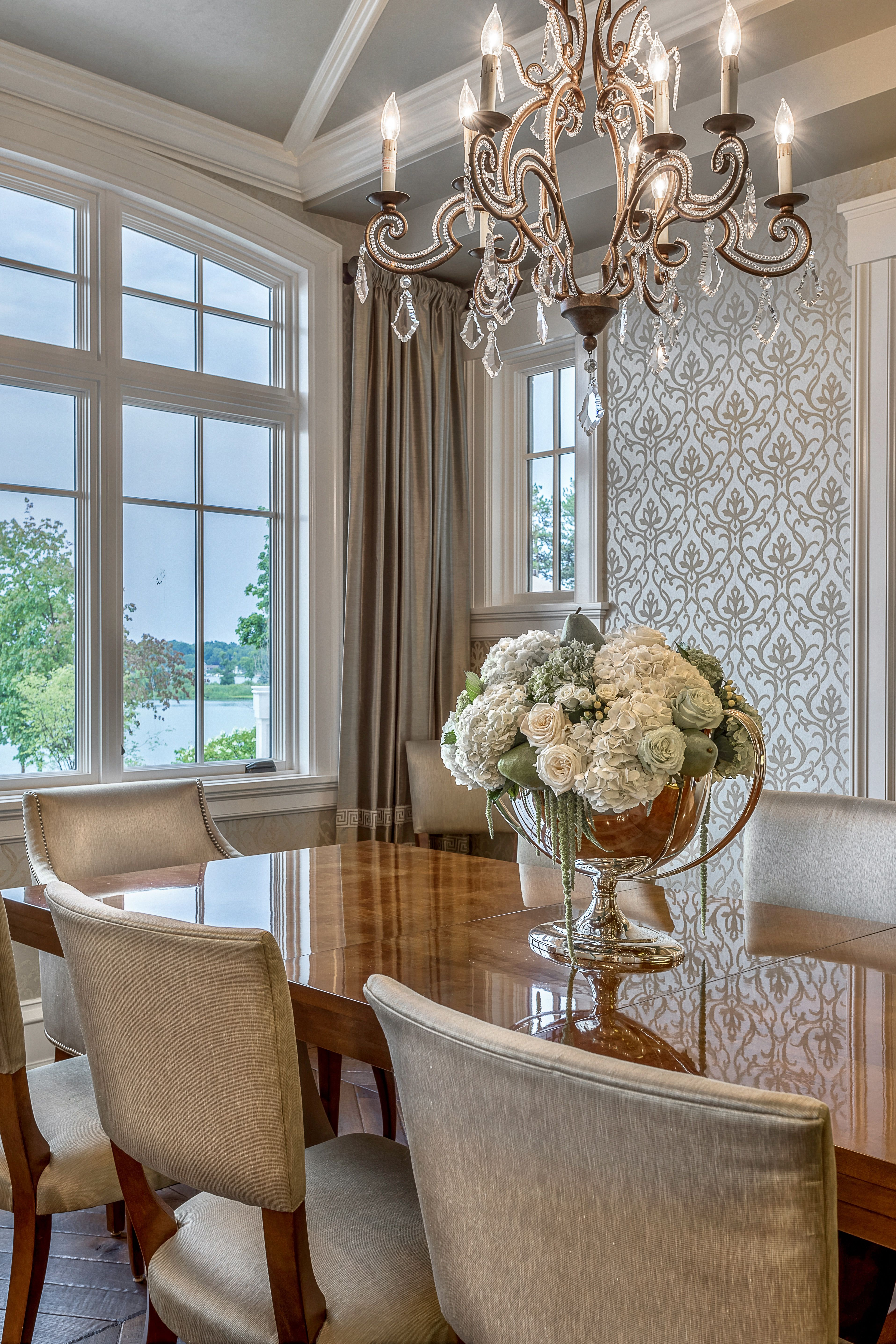 Designed By Chatham House Interiors Kali Elegant Dining Room In Luxurious Gold