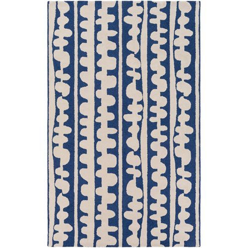 Decorativa Blue and Neutral Rectangular: 5 Ft x 8 Ft Rug by Lotta Jansdotter - (In Rectangular)