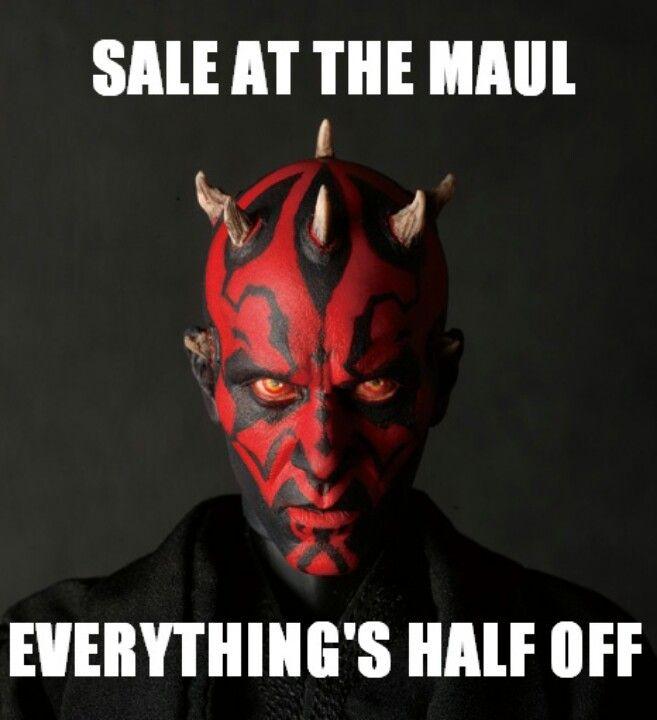 3ec158894 Poor Darth Maul... | Star Wars | Funny star wars pictures, Star wars ...