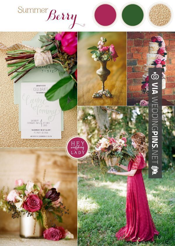 Wedding Colour Schemes 2017 Rich And Wild Summer Berry Inspiration In Luxurious Hues See More Http Heyweddinglady Co