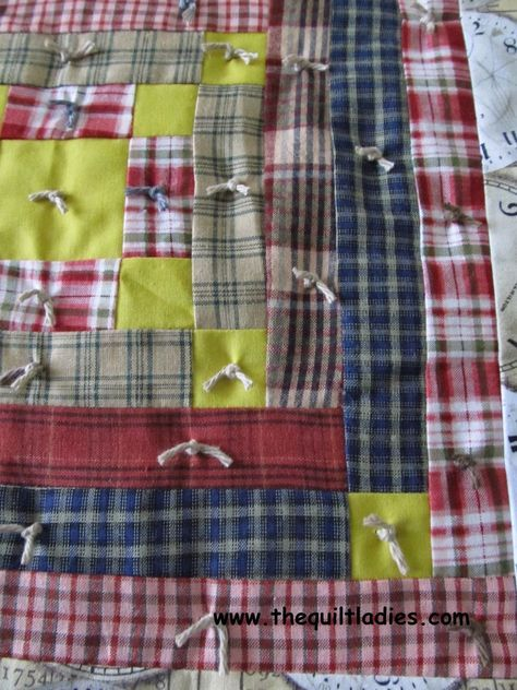Tutorial on how to tie a quilt with yarn | personal progress ... : quilt with yarn ties - Adamdwight.com