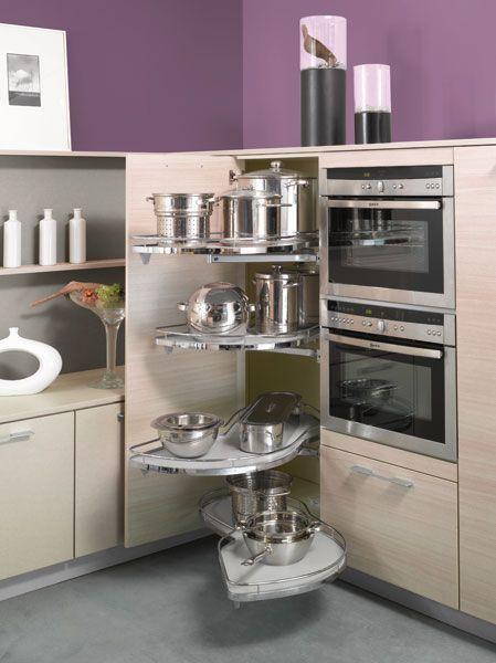 Armoires de cuisine Tendances Concept Tiroir à épices - amenagement placard d angle cuisine