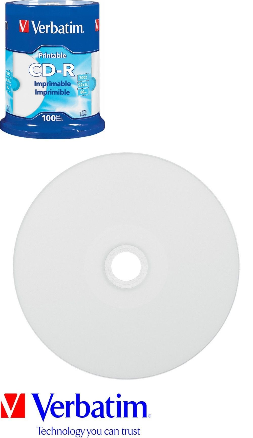 photo about Verbatim Cd R Printable known as Blank Media and Add-ons 80133: Verbatim Cd-R Cdr 52X