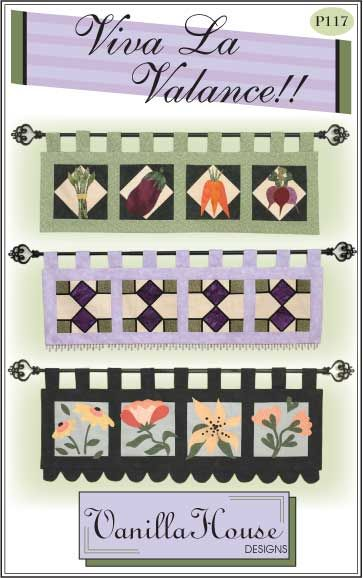 Home Dec patterns | Vanilla House Designs - Part 2 Stained glass ... : quilted valances - Adamdwight.com
