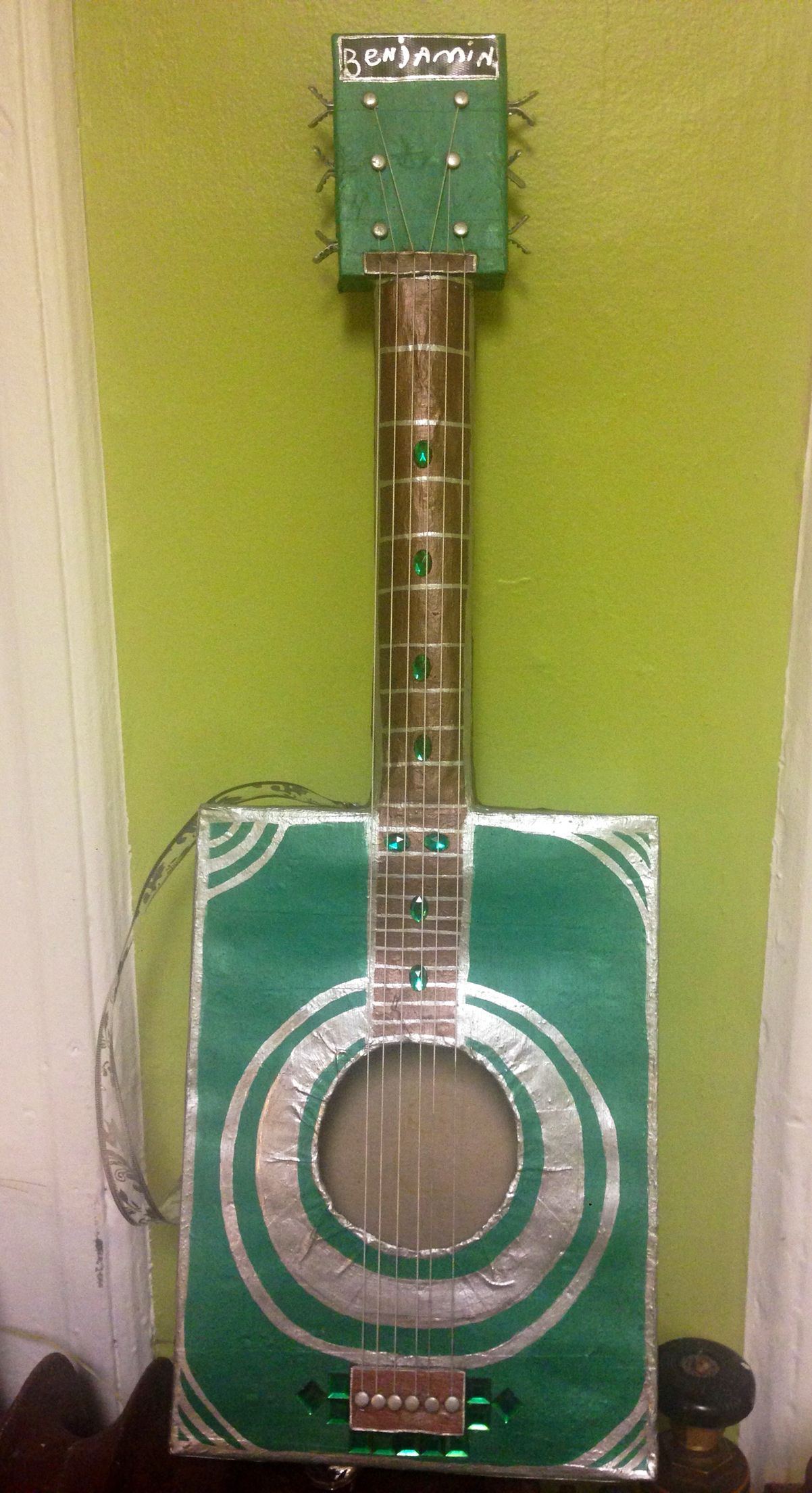 Diy cardboard guitar For preschool graduation my son was asked to ...