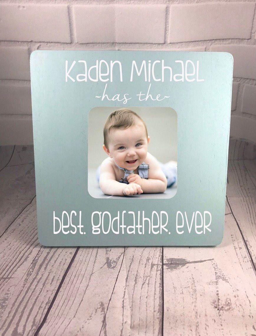 Personalized Godfather Frame, Baby Boy Frame, Gift for Godfather ...