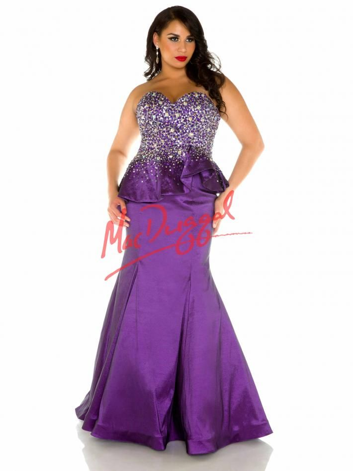 Amethyst Purple Prom Dress | Plus Size Dress | Peplum Gown | Mac ...