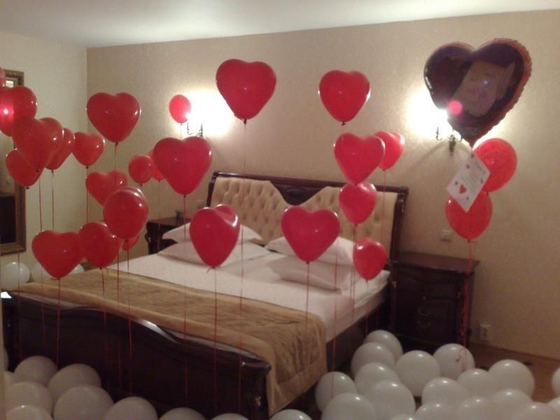 Romantic Bedroom Ideas For Couples Red And White Heart Balloons Valentine S Day Diy Valentine Gifts Valentines