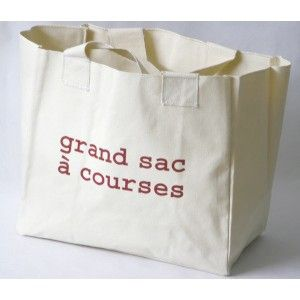 'Grand sac à courses' en coton recyclé