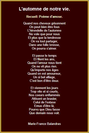 Lautomne De Notre Vie Poesie D Amour Beau Texte D Amour
