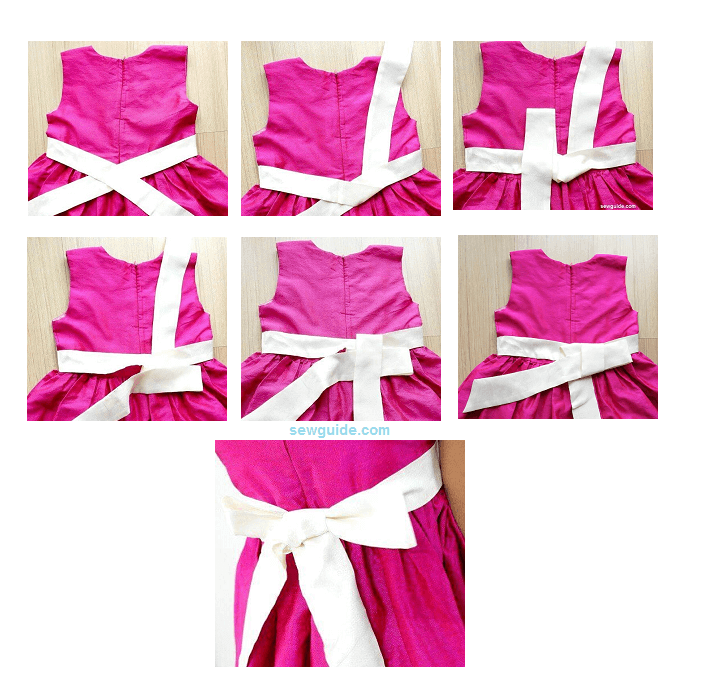 Tie A Perfect Sash Bow In A Dress Sew Guide Bow Tie Dress Sewing Dresses Dresses