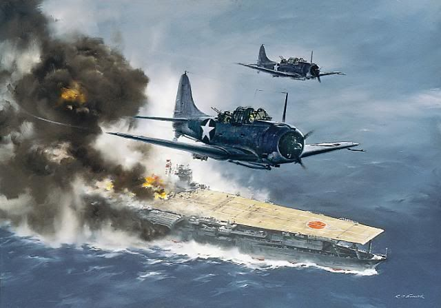Attack on the Akagi - Midway - R.G. Smith