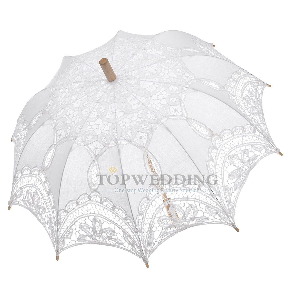 Battenburg Spitze Hochzeit Braut Schirm Sonnenschirm Regenschirm ...
