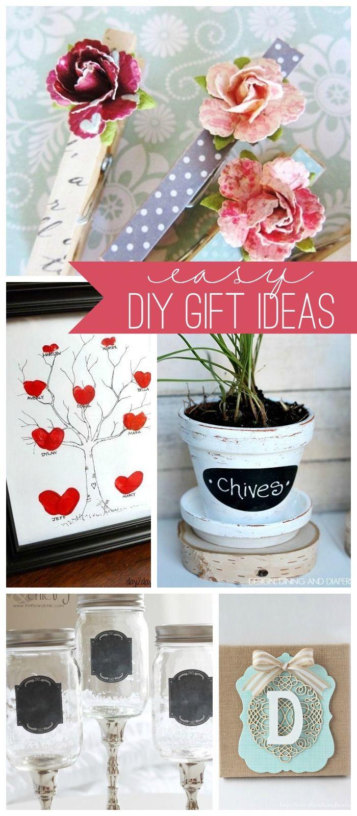 Easy DIY Gift Ideas { lilluna.com } | birthday present ideas ...