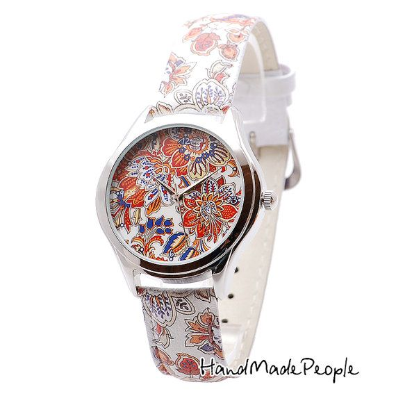 7acb0c138ba1f Orange Flowers Women Watch