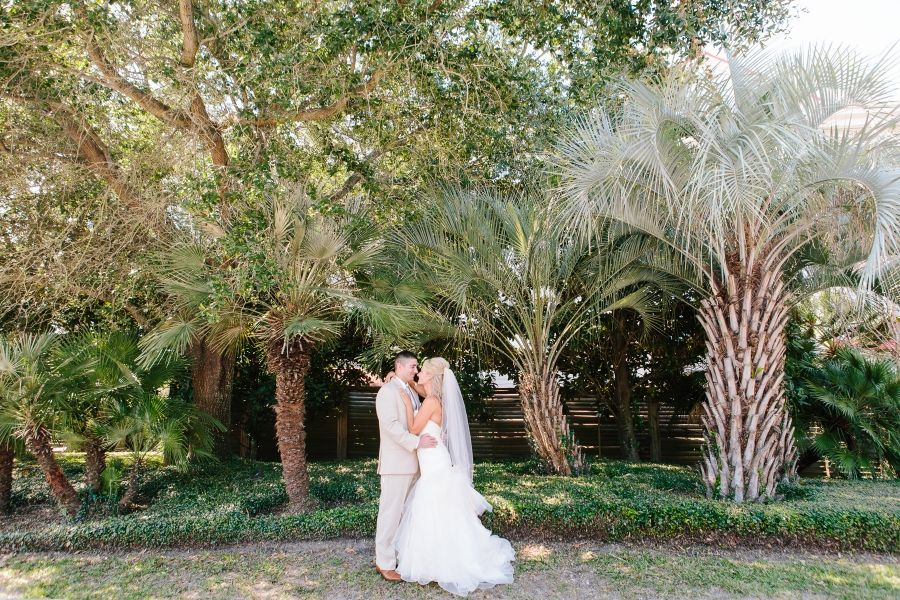Sharing some of their first moments together after tying the knot at their Charleston Harbor Resort wedding!