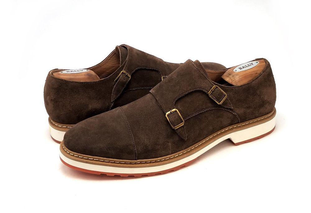 853f4803c70 Nordstrom 1901 Albany Mens Shoes Double Monk Strap Brown Suede Size 11.5 M   1901  DoubleMonkStrap