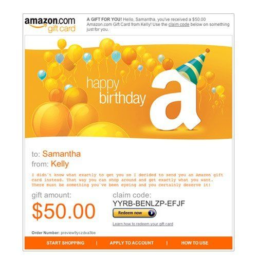 How To Redeem An Amazon Email Gift Card