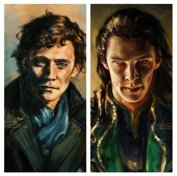 wierddd<--this kind of reminds of that painting in Ghost Busters, lol. more specifically the one on the right, sorry Benedict, lol. but i like how they switched characters