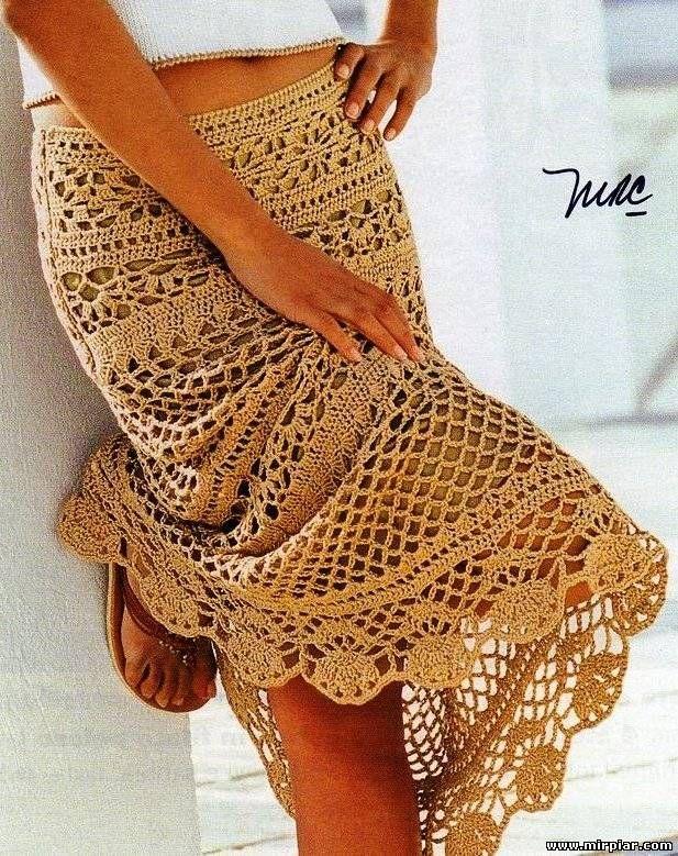 Шикарная в своей простоте ажурная юбка 2