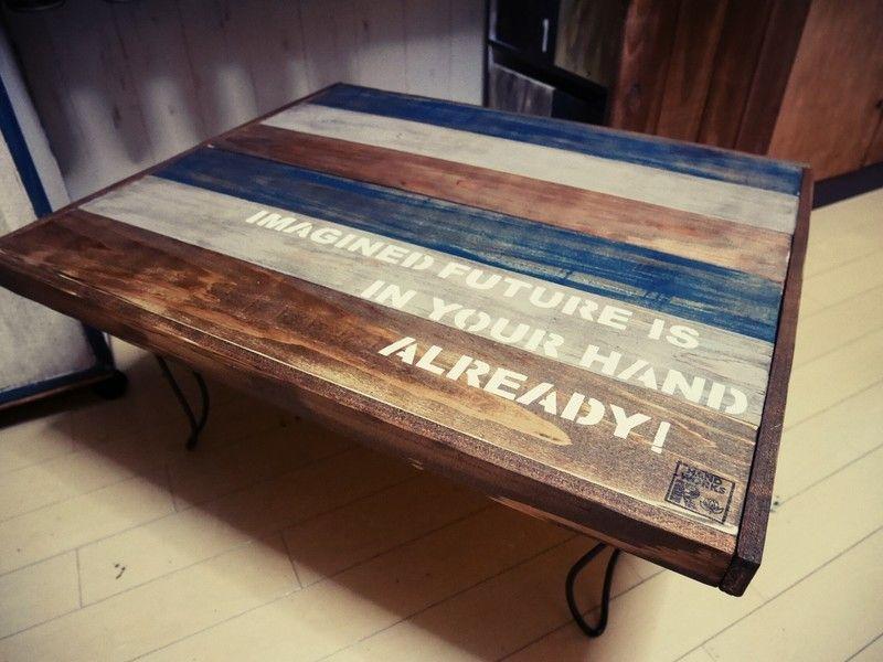 不要になった折りたたみテーブルを男前にリメイクdiy 折りたたみテーブル テーブル リメイク ローテーブル Diy
