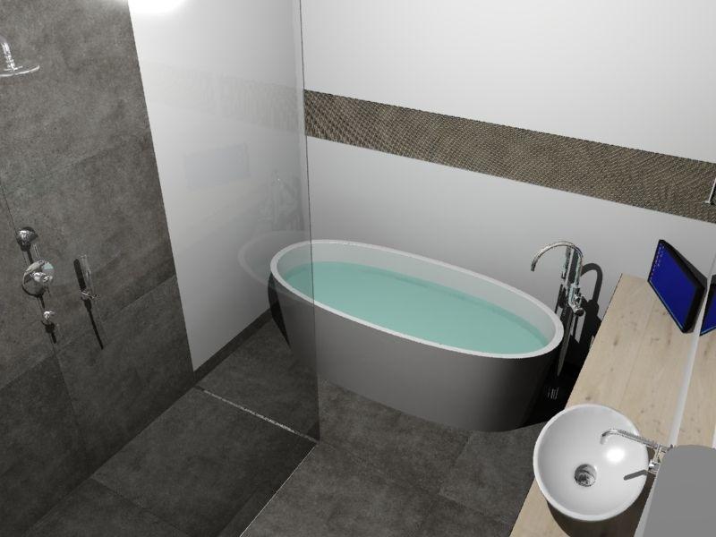 vrijstaand bad in badkamerontwerp   badkamer   pinterest, Badkamer