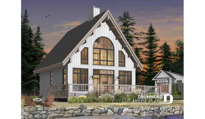 Discover The Plan 3938 The Skylark Which Will Please You For Its 3 Bedrooms And For Its Cottage Chalet Cabin Styles Cabin House Plans Lake House Plans Cottage House Plans