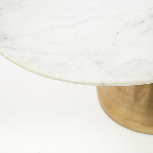 Silhouette Dining Table Oval 60  White Marble Antique Brass Silhouette Dining Table Oval 60  White Marble Antique Brass
