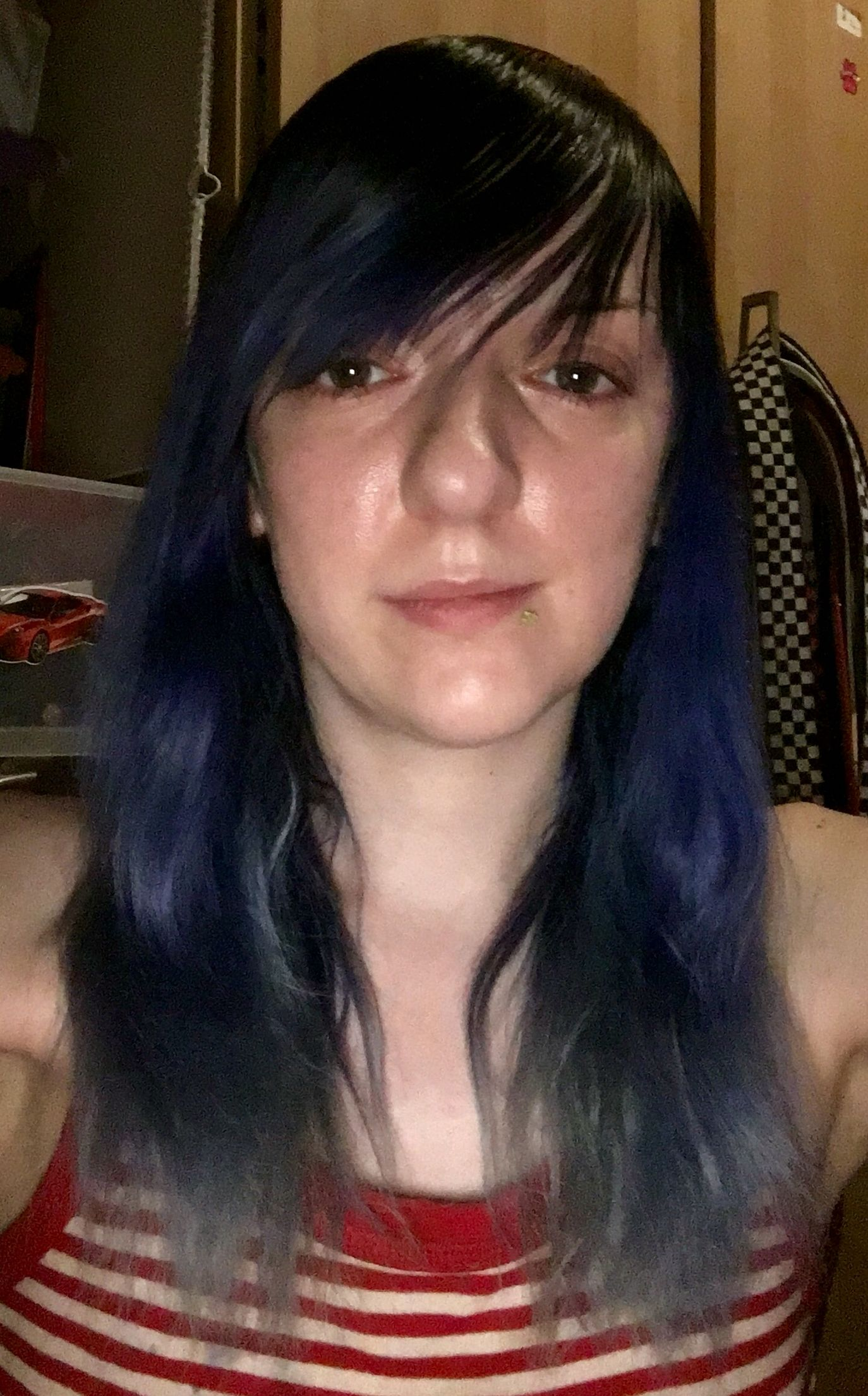 New ombré blue hair and re shaped fringe Me u My Style Pinterest