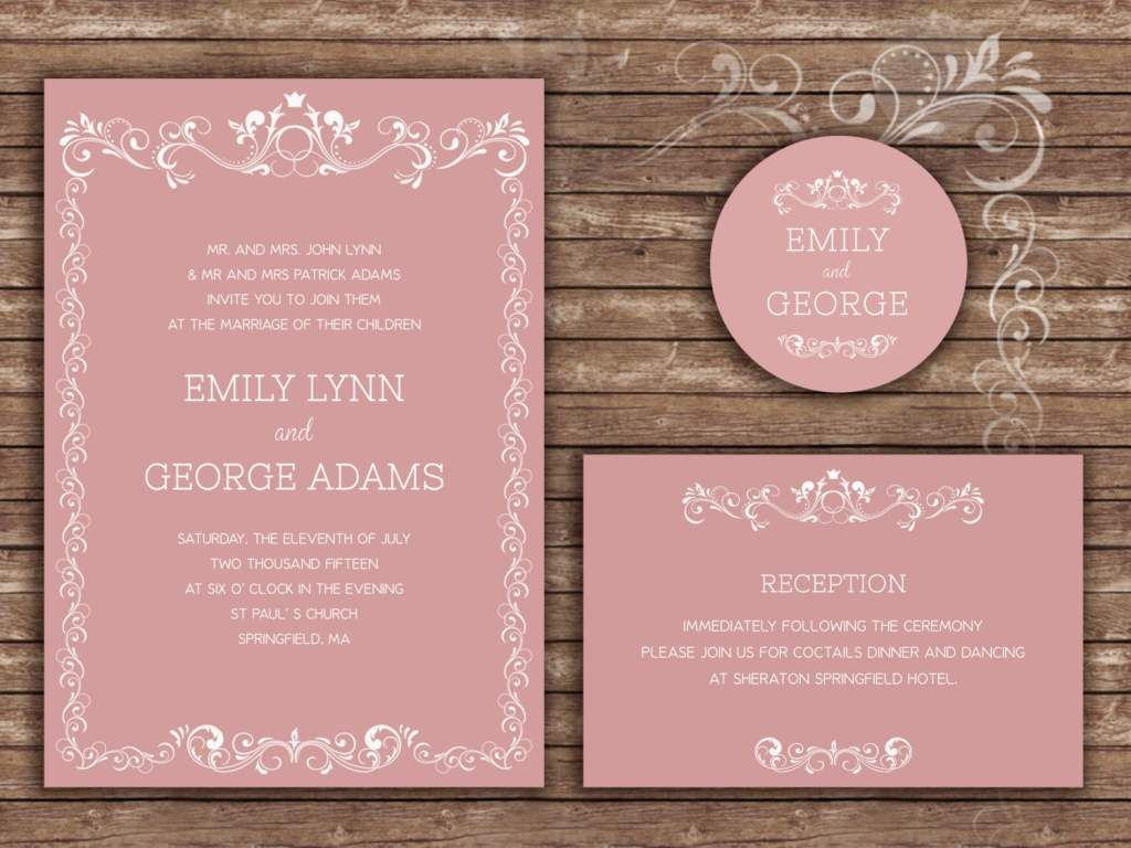 Sample Wedding Invitation Wording Formal | Bridal + Wedding ...