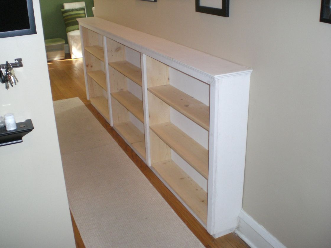 Finding space: hallway bookcases