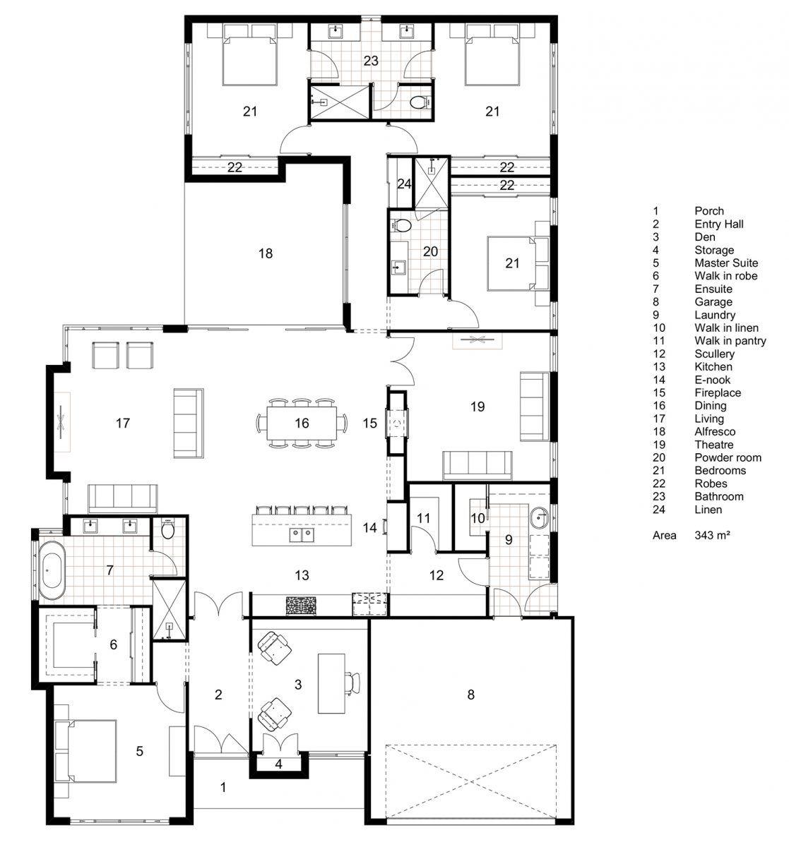 Floor Plan Friday Classic Hamptons Single Storey Home Single Storey House Plans Floor Plans 4 Bedroom House Plans