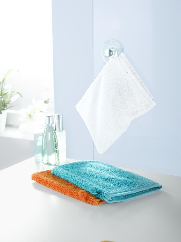 Bringt frische #Farben ins #Bad - 3 #Frottier-Waschhandschuhe in - farbe fürs badezimmer