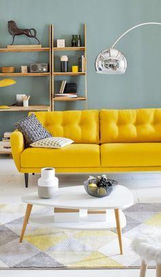 Le jaune moutarde : pour une déco ensoleillée | Décoration ...