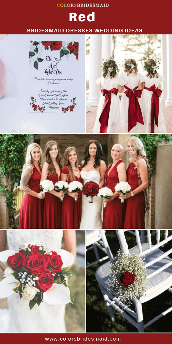 8585ae31e7 Red Bridesmaid Dresses in 2019