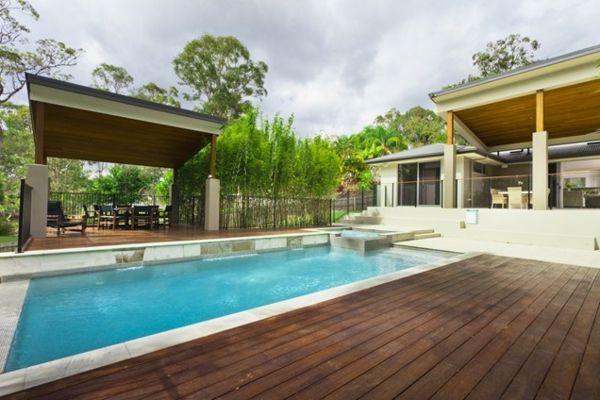 101 Bilder Von Pool Im Garten Modern Pool Dach Landschaft Holz