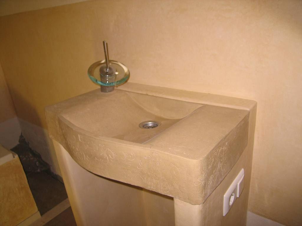 waschbecken und unterbau mit tadelakt verputzt unterbau. Black Bedroom Furniture Sets. Home Design Ideas
