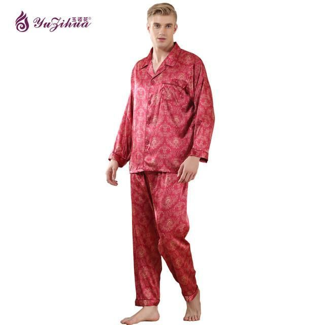 5644864f25 Singlet Men Sexy Pajamas For Men Couples Set Short Sleeve Shorts Silk Pajama  Classic Stripes High-Grade Pajama Sets Plus Size