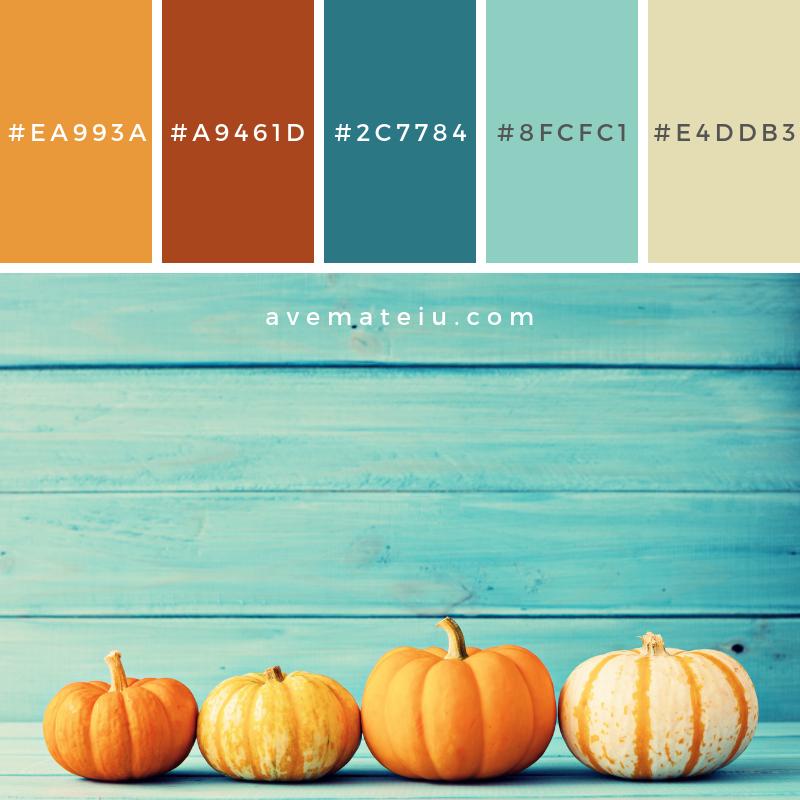 Pumpkin and autumn leafs Color Palette #336