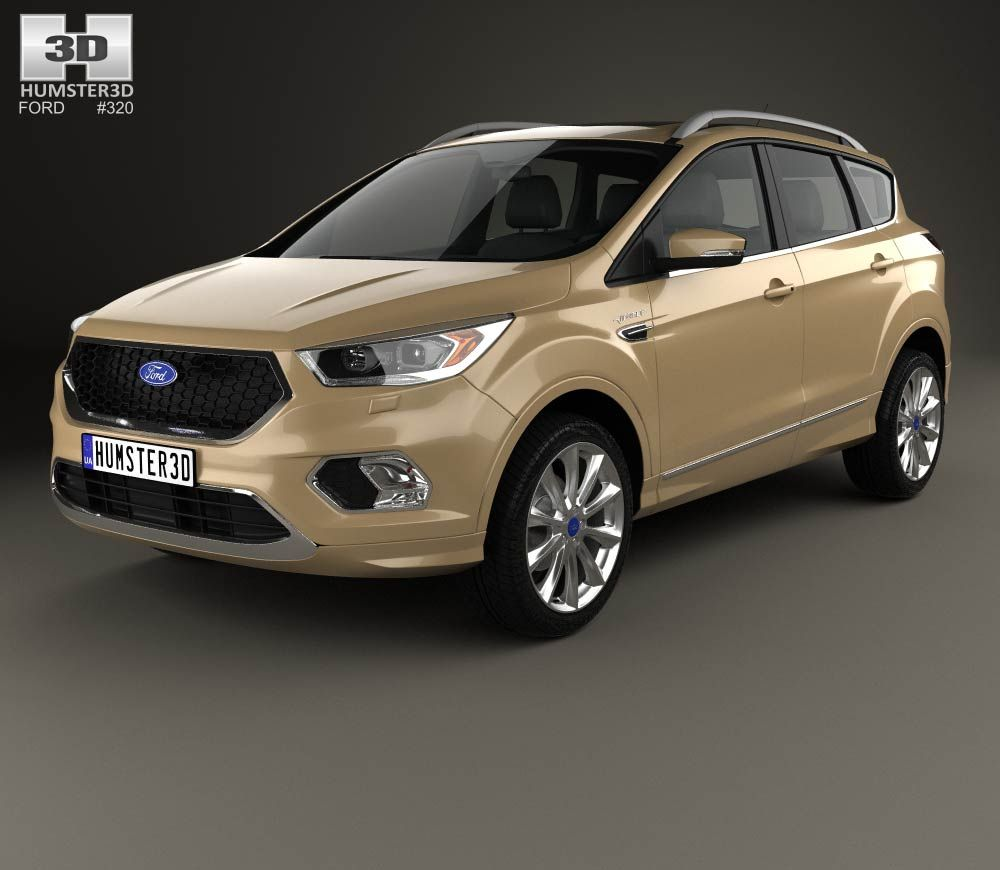 3d Model Of Ford Kuga Vignale 2016 In 2020 Ford Kuga 3d Model Ford