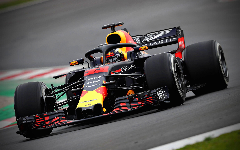 Max Verstappen, F1, 4k, raceway, RB14, 2018 cars, Formula