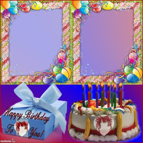 Happy Birthday Twin Frames Birthday Frames Happy